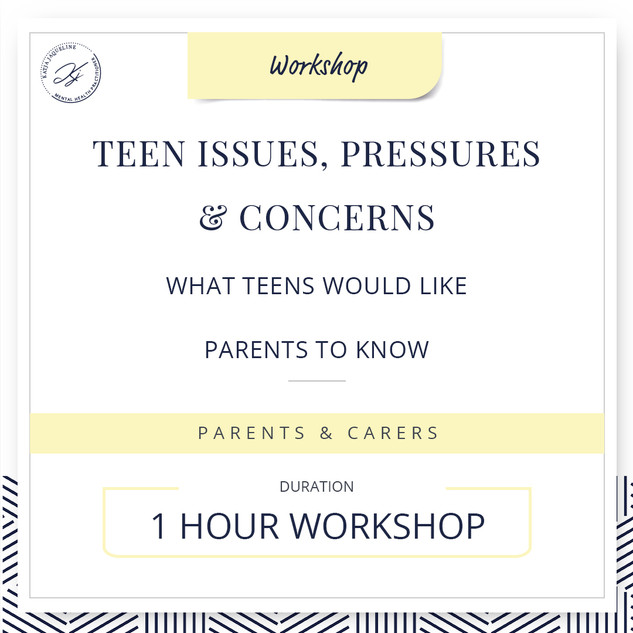 Teen issues, pressures and concerns