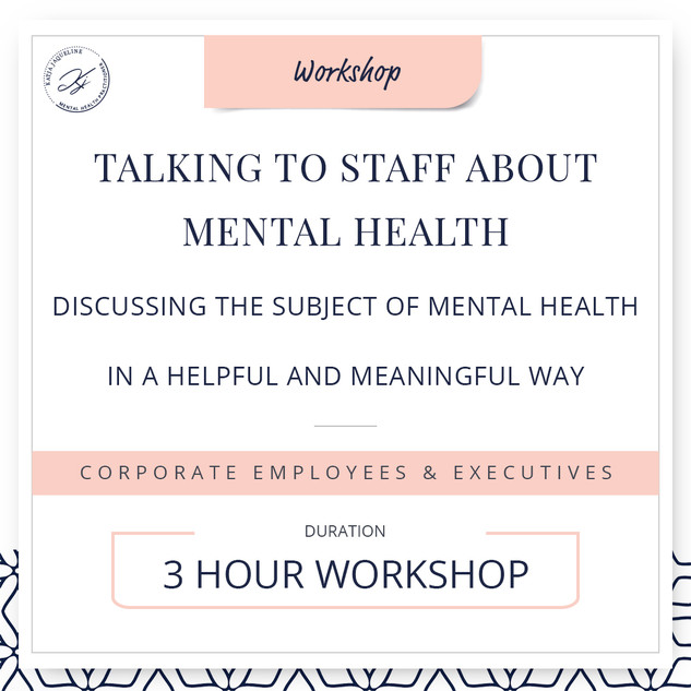 Talking to staff about mental health
