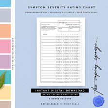 SYMPTOM SEVERITY RATING CHART