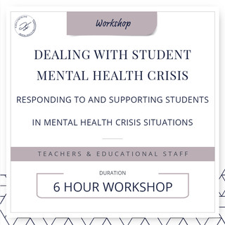 Dealing with student mental health crisis