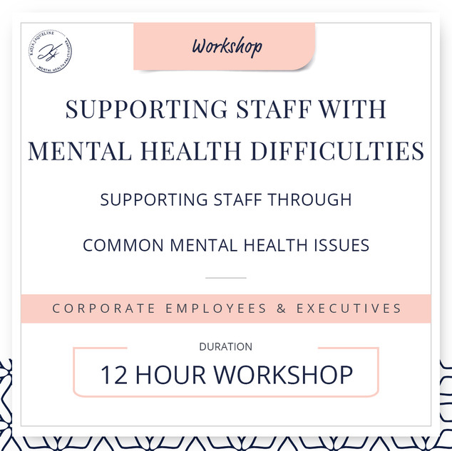 Supporting staff with mental health difficulties