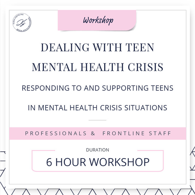 Dealing with teen mental health crisis