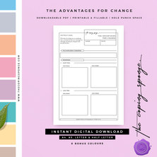 THE ADVANTAGES FOR CHANGE