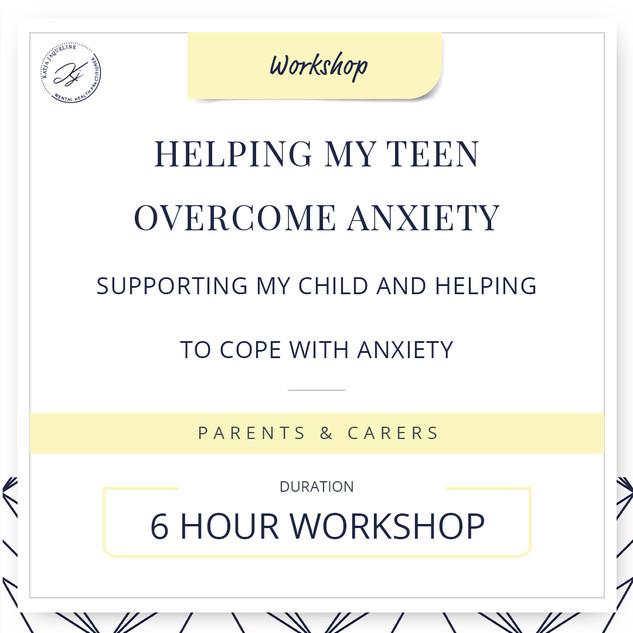 Helping my teen overcome anxiety