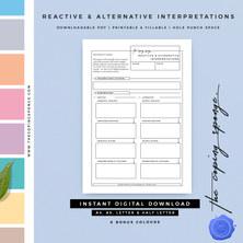 REACTIVE AND ALTERNATIVE INTERPRETATIONS