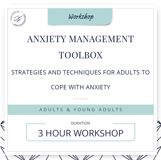 Anxiety management toolbox