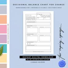 DECISIONAL BALANCE CHART FOR CHANGE