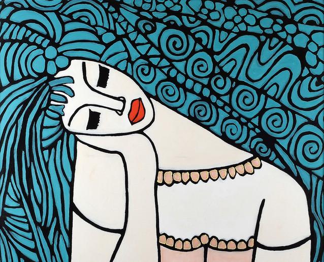 Blue Hair by Avi Ben-Simhon