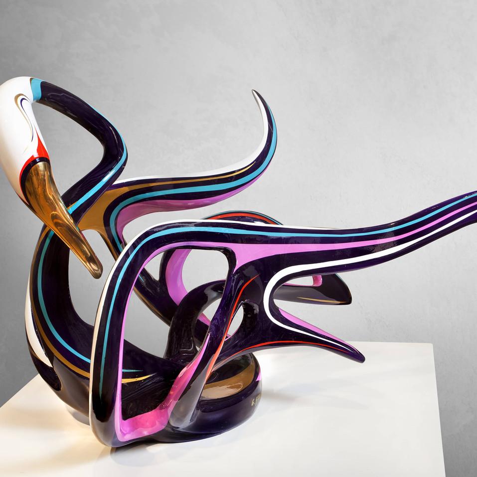 Swan Sculpture by Gadi Fraiman