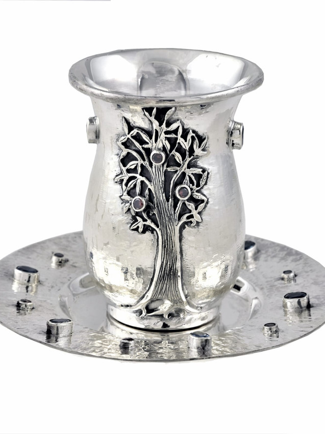 Silver Kabbalistic Tree of Life Kiddush Cup