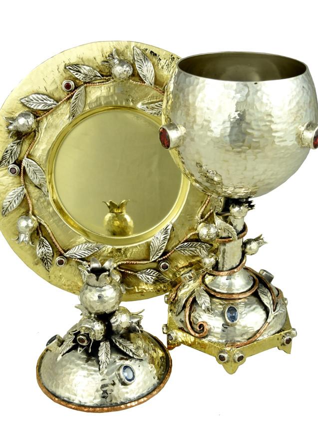Gorgeous Kiddush Goblet Cup Set by Efim Levin
