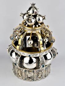 Handmade Sefer Torah Scroll Crown Judaica
