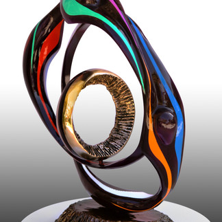 Wedding Ring Sculpture by Gadi Fraiman