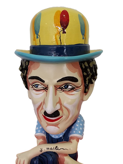 Charlie Chaplin Sculpture by Yuval Mahler