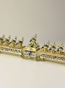 Gorgeous Aladdin Handmade Judaica Menorah
