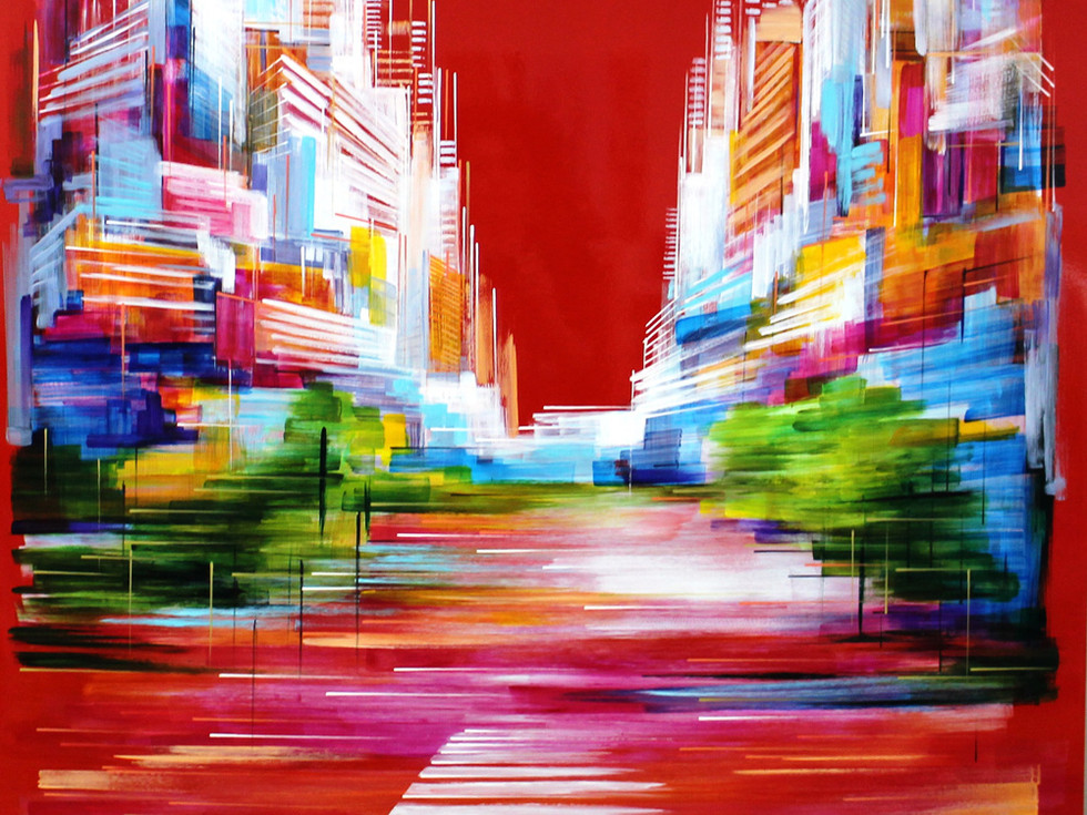New York City in Red by Adriana Naveh