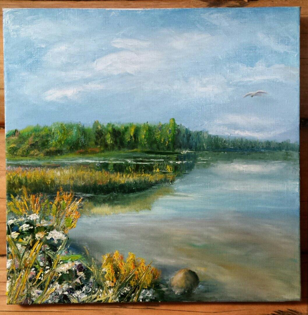 Этюд озеро Донцо. Русские мальдивы.