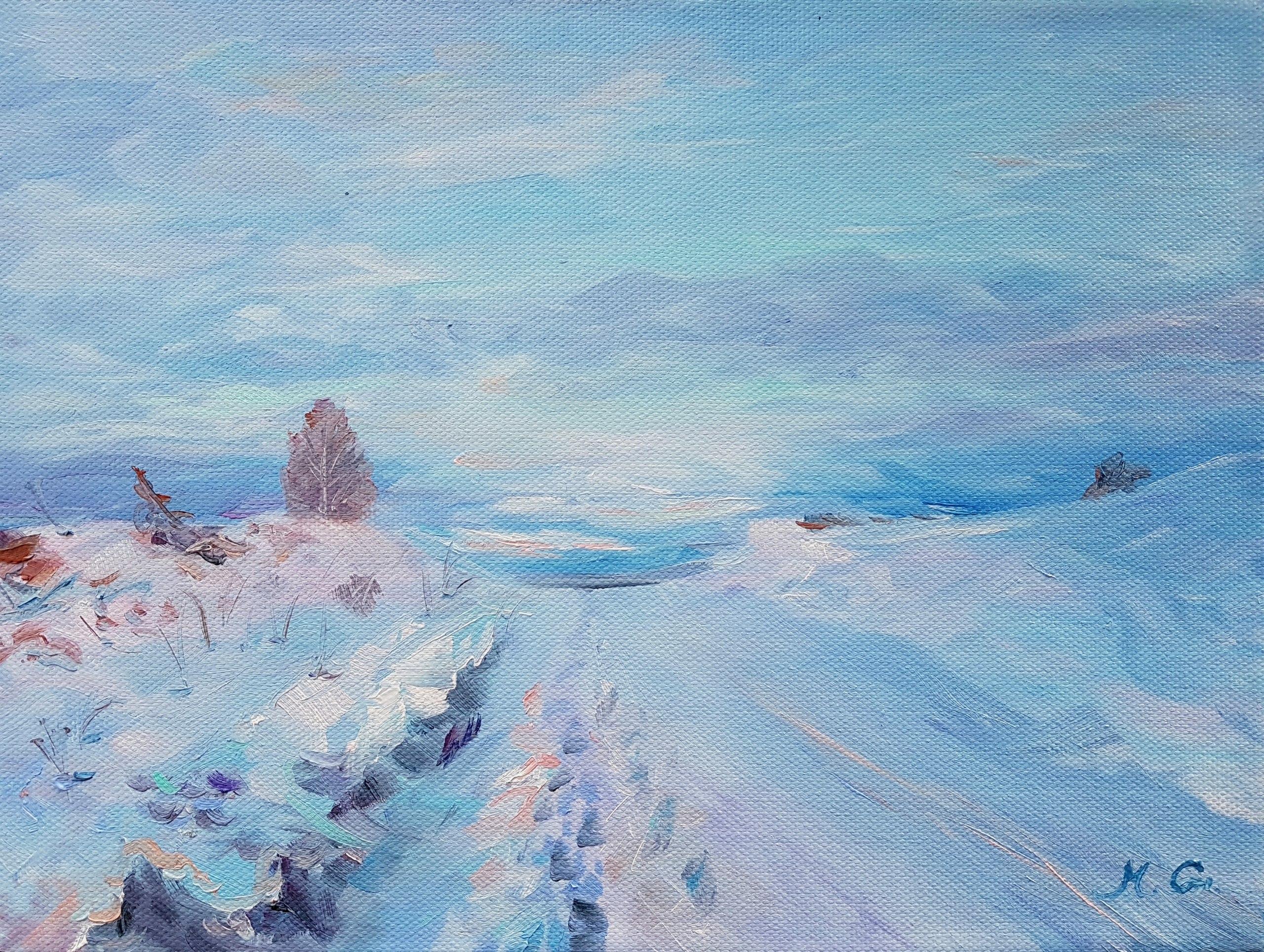 Зимний вечер в Тимир-тау