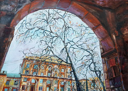 Осень в Новокузнецке,ул. Металлургов