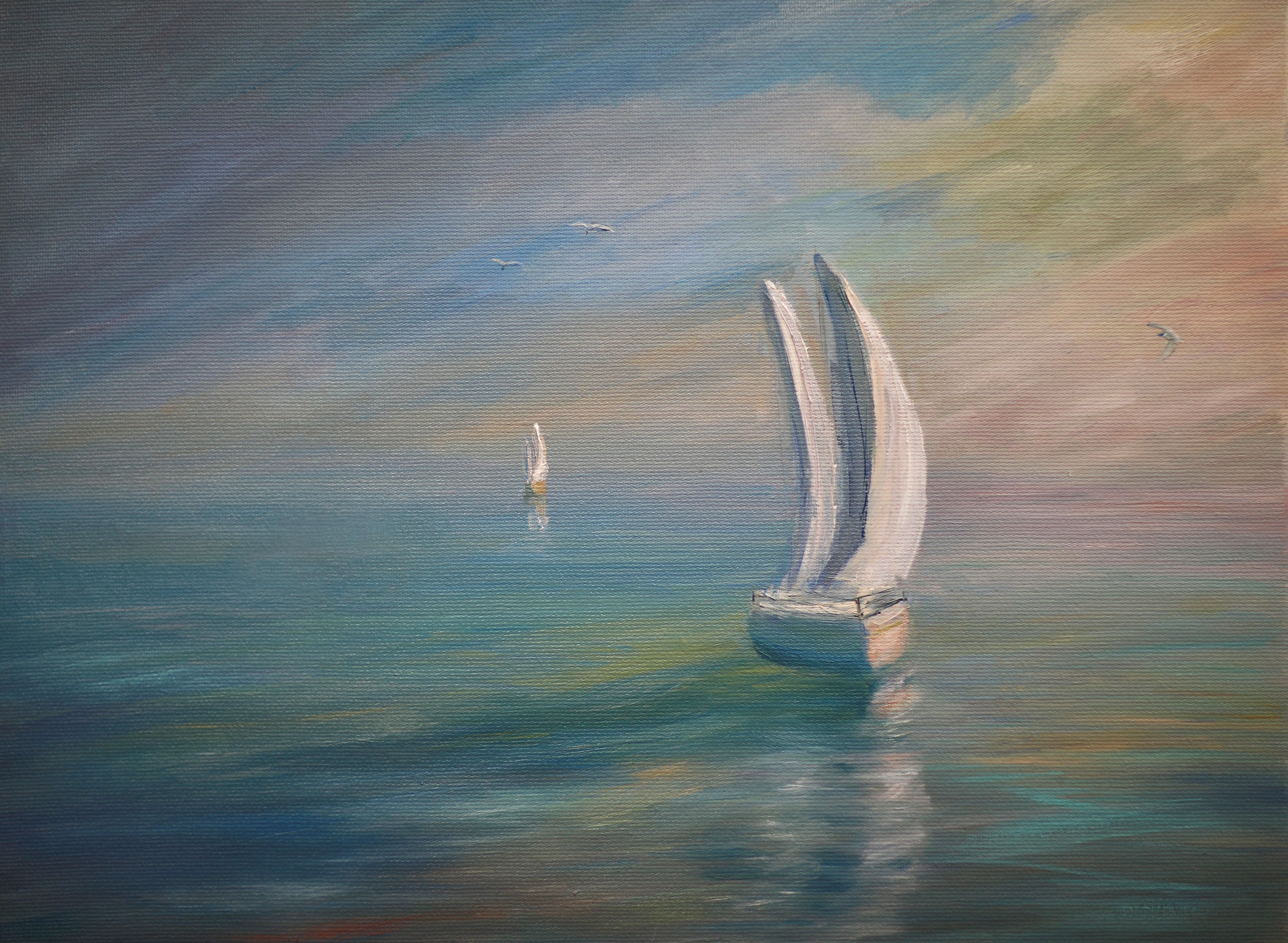 Утро в море