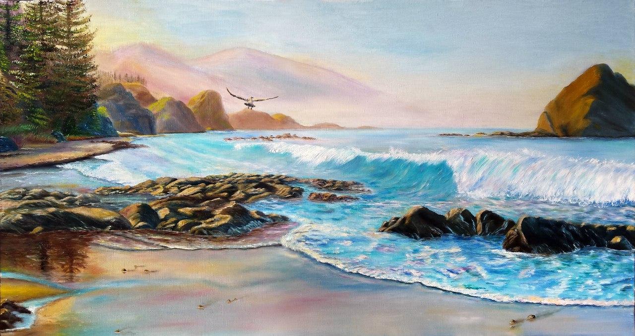 Утро на берегу океана