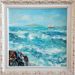 Легкий шторм, живопись, картина