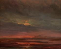 Реплика картины А. К. Саврасова «Закат на болоте»