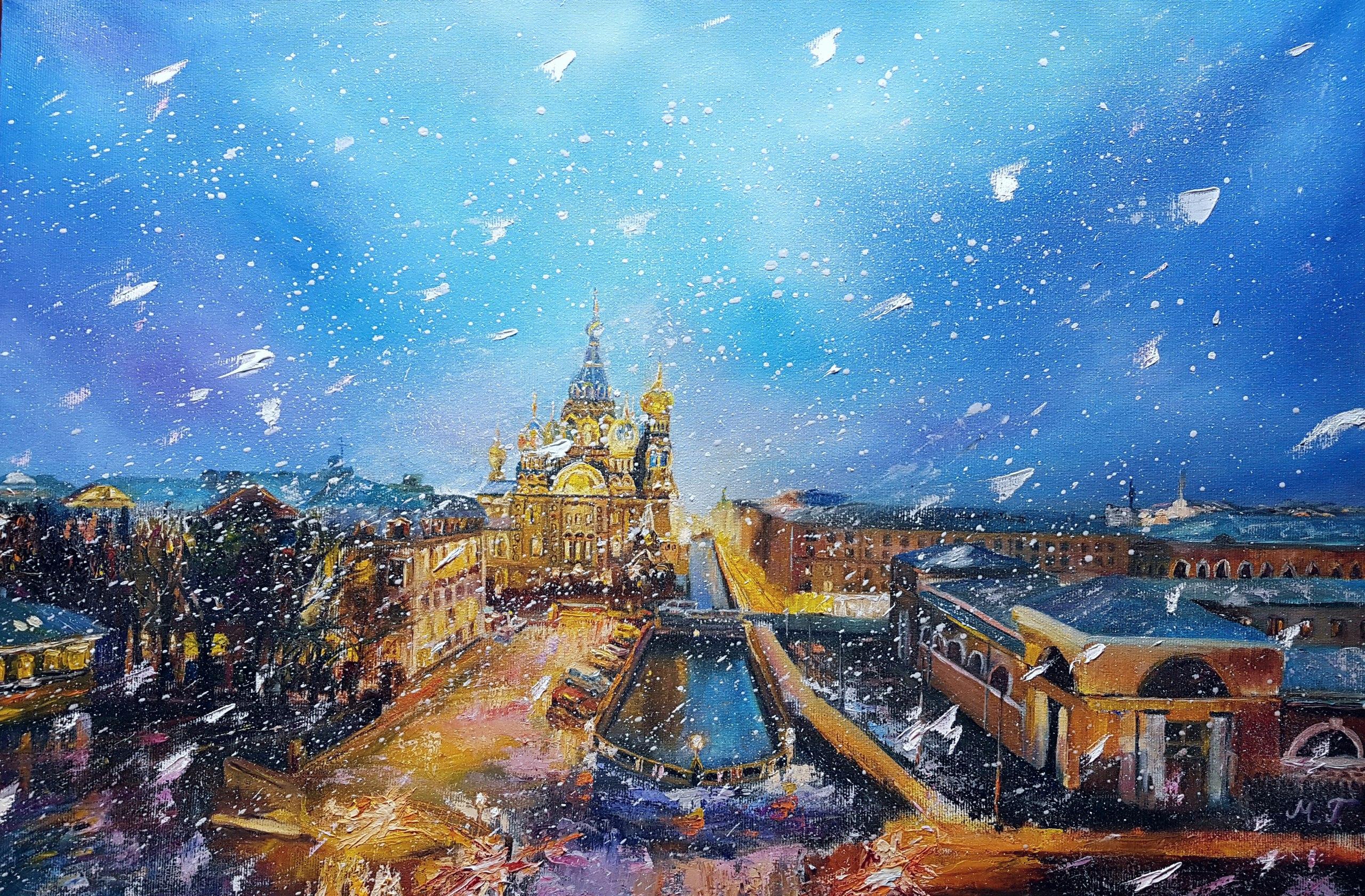 Первый снег, Исаакиевский собор