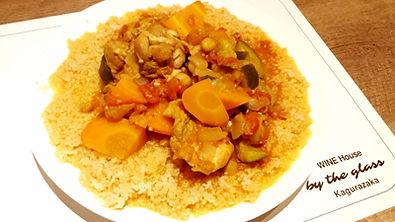 自家製 チキンと野菜のモロッコ風トマト煮とクスクス