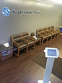 Patient Kiosk and Waiting Room in Newport