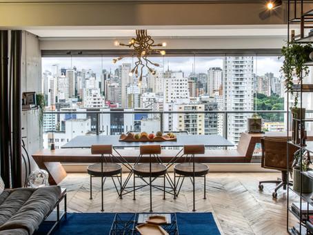 Um apartamento pequeno, charmoso e cosmopolita