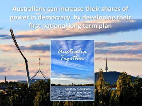 We can increase our shares of power in democracy if we devise a national long term plan