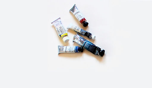 paint tubes Susan Hitchcock uses for watercolors