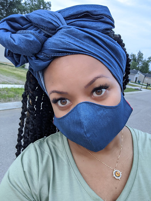 Mean Jean Headwrap & Jean Set