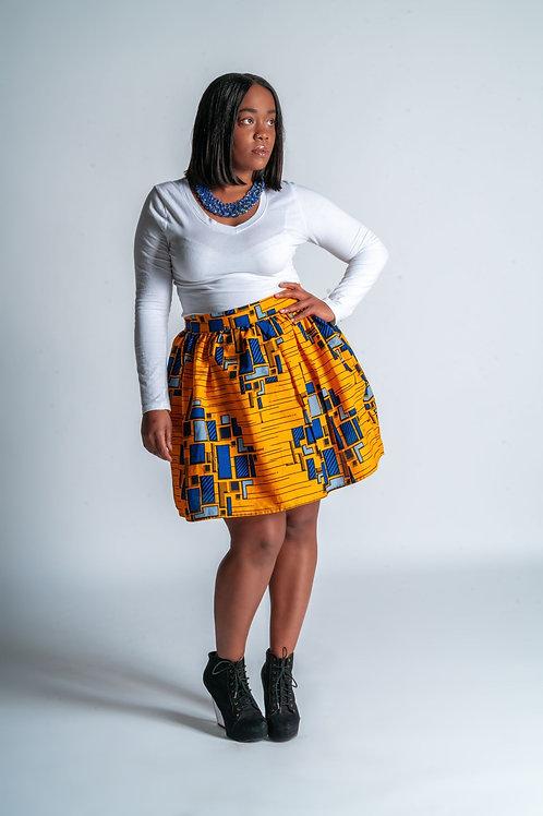 High Waist Ankara Skirt