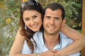 Maquillage photos de couple save the date annecy genève maquilleuse professionnelle Elodie Montant mariage en beauté