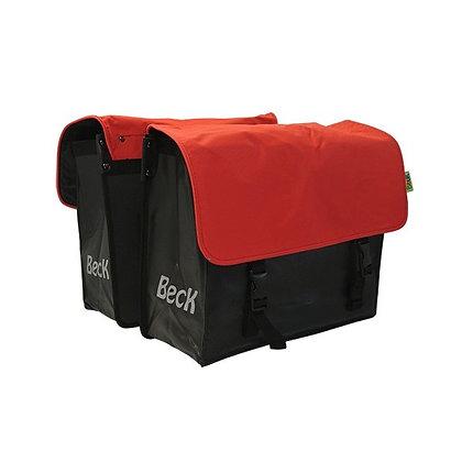 Beck fietstassen Zwart/ Rood