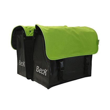Beck fietstassen Zwart/ Lime