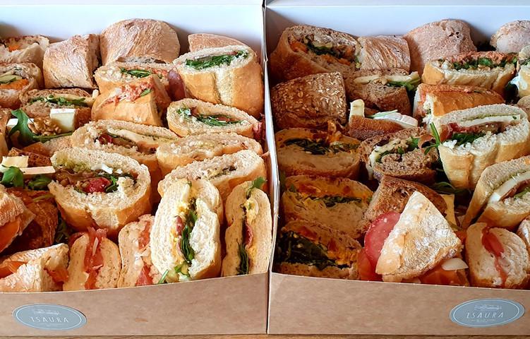 broodjes in 3 stukken