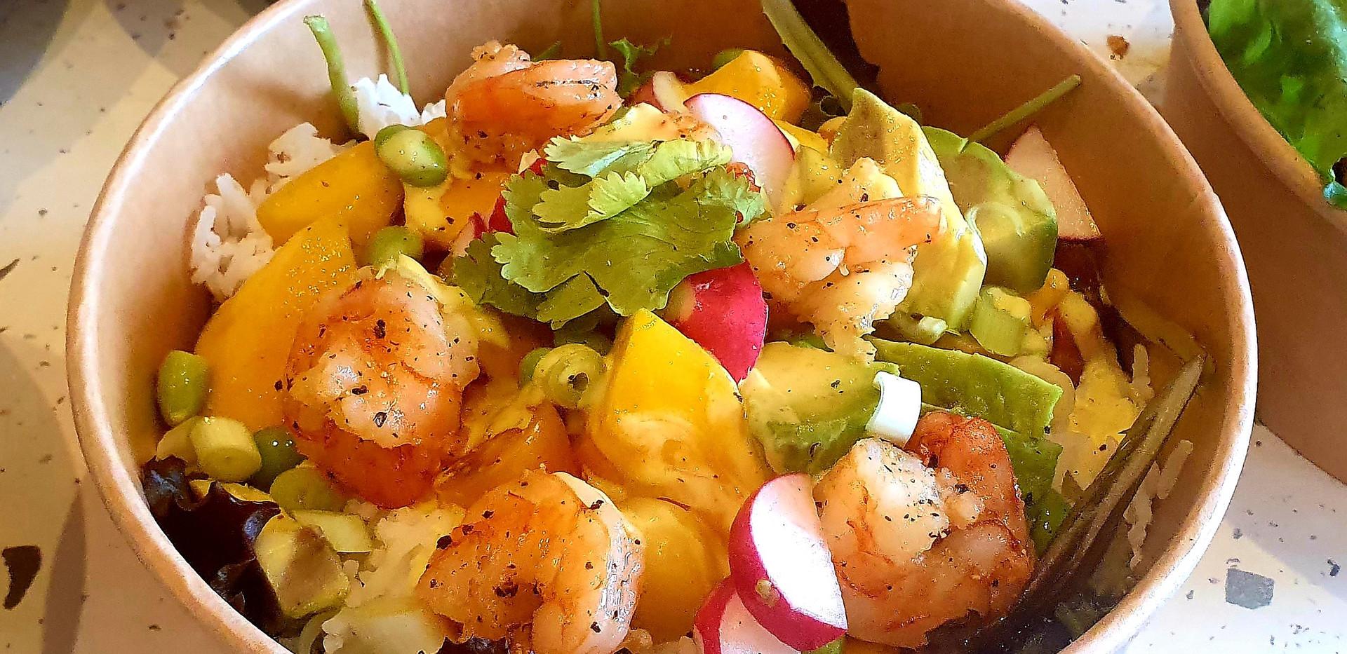 scampi rijst salade