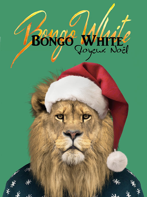 "Lot de 10 Cartes Postales ""BONGO WHITE"" Joyeux Noël"
