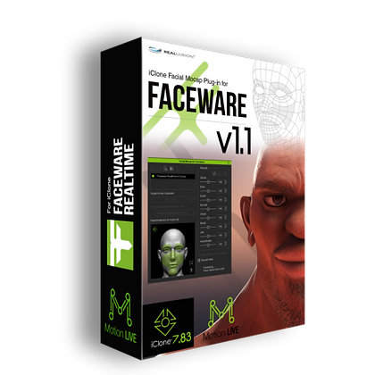 Faceware Plugins v1.1 + Motion Live Pack Unlimited iClone 7.83