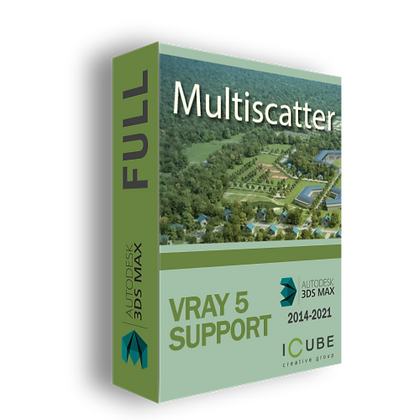 MultiScatter 1.527 for 3dmax 2014-2021 /support: Vray 5