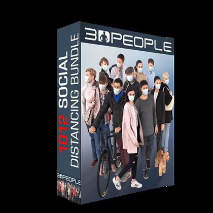 3dpeople - 1012 Social Distancing Bundle