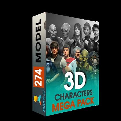 3D Characters Mega Pack - Genesis 1,2,3 iclone7 3Dxchance