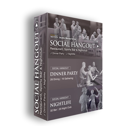 Social Hangout Bundle - iClone7 / CC3