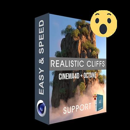 Realistic Cliffs Cinema4D / Lumion 10