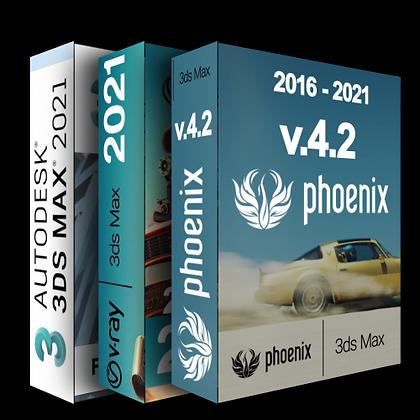 3dmax 2021+ Vray 5 + Phoenix FD 4.2 - BUNDLE