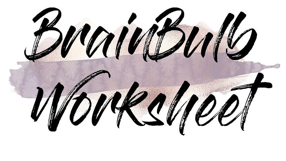 BrainBulb Worksheet