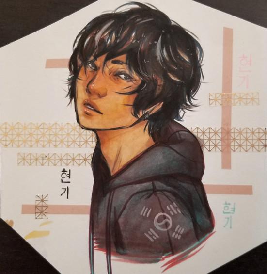 Hyun-Ki (Copic and Washi Tape)